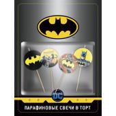 Свечи Круг, Бэтмен, 4 см, 4 шт.