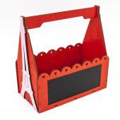 Декоративный ящик, Париж (ажурные сердечки), Красный, 26*13*26 см, 1 шт.
