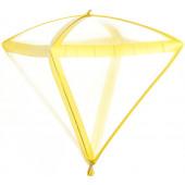 Шар 3D (20''/51 см) Алмаз, Золотые грани, Прозрачный, 1 шт.