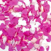 Конфетти тишью Сердце, Розовый микс, 2,5 см, 50 гр.