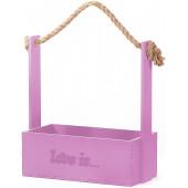 Декоративный ящик Love is, Розовый, 24*12*28 см, 1 шт.